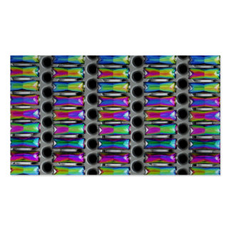 funky jeweled business cards