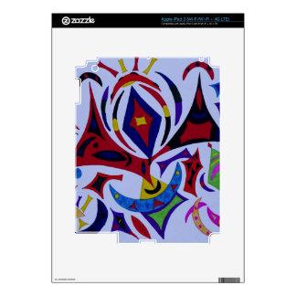 Funky kaleidoscope abstract art skins for iPad 3