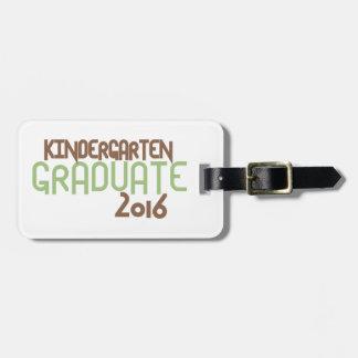 Funky Kindergarten Graduate 2016 (Green) Bag Tag