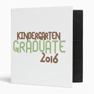 Funky Kindergarten Graduate 2016 (Green) Binder