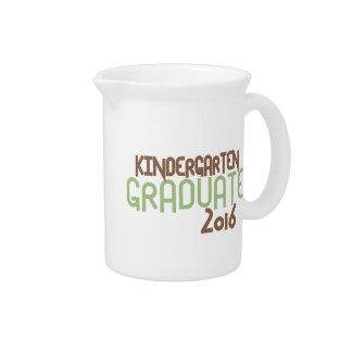 Funky Kindergarten Graduate 2016 (Green) Pitcher
