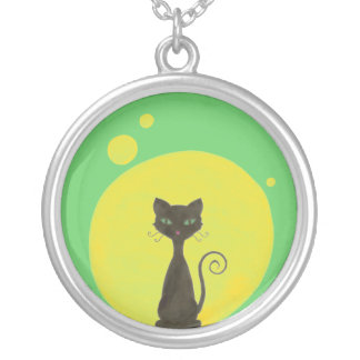 Funky Kitty Moon Necklace