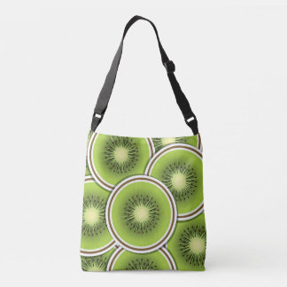 Funky kiwi fruit slices crossbody bag