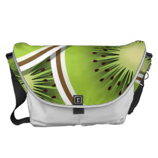 Funky kiwi fruit slices messenger bag
