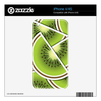 Funky kiwi fruit wedges decals for the iPhone 4