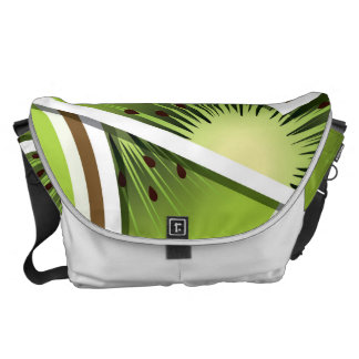 Funky kiwi fruit wedges messenger bag