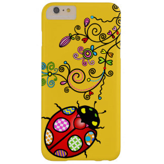 Funky Ladybug and Curly Flowers iPhone 6 Plus Barely There iPhone 6 Plus Case