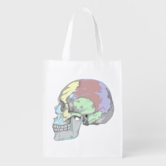 FUNKY LATERAL SKULL GROCERY BAG