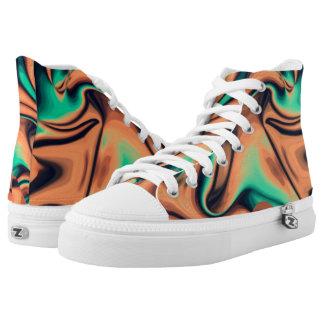 Funky Lava Hi Top Printed Shoes