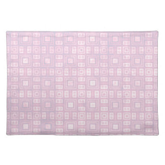 Funky Lavender Retro Mosaic Pattern Placemat