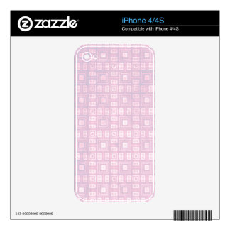 Funky Lavender Retro Mosaic Pattern Skins For iPhone 4S