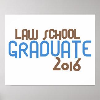 Funky Law School Graduate 2016 (Blue) Poster