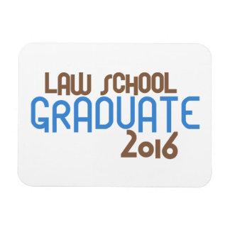 Funky Law School Graduate 2016 (Blue) Rectangular Photo Magnet
