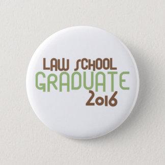 Funky Law School Graduate 2016 (Green) Button