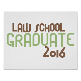 Funky Law School Graduate 2016 (Green) Poster