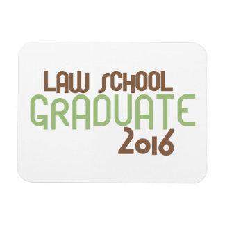 Funky Law School Graduate 2016 (Green) Rectangular Photo Magnet