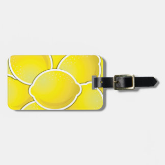 Funky lemon bag tag