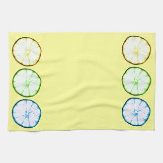 funky lemon slices kitchen towels