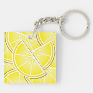Funky lemon wedges! keychain