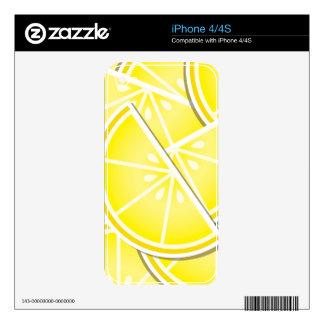 Funky lemon wedges! skin for iPhone 4