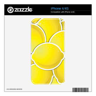 Funky lemons decal for the iPhone 4S