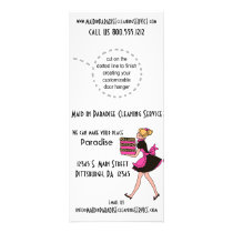 Funky Leopard Print Cleaning Service Rack Cards