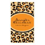 Funky Leopard Print Custom Business Card :: Orange