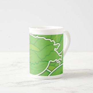 Funky lettuce tea cup