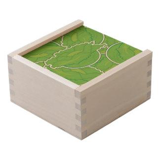 Funky lettuce wooden keepsake box