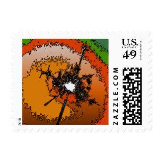 funky light postage stamp