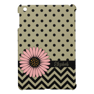 Funky L'il Daisy Dot iPad Mini Case -taupe
