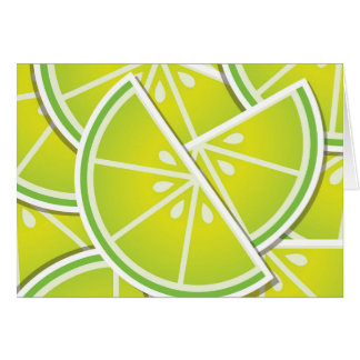 Funky lime wedges card
