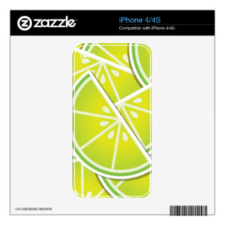 Funky lime wedges decal for the iPhone 4