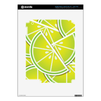 Funky lime wedges decals for iPad 3