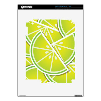 Funky lime wedges skins for the iPad 2
