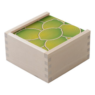 Funky lime wooden keepsake box