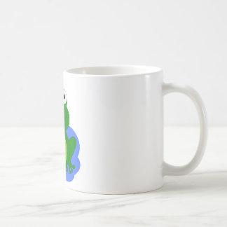 Funky little frog pond coffee mug
