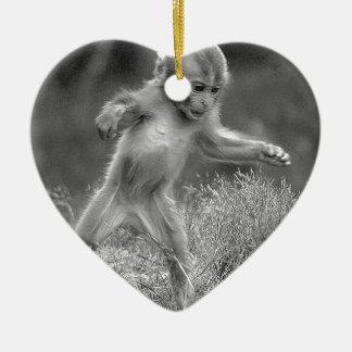 Funky Little Monkey Ceramic Ornament