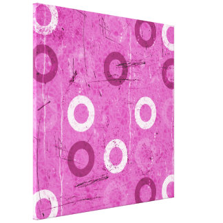 Funky Lollidots on grungy pink background Canvas Prints