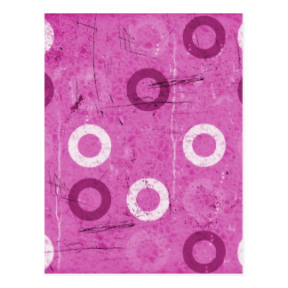 Funky Lollidots on grungy pink background Postcard
