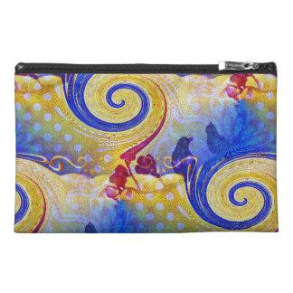 Funky Lollipop Swirl Pattern Roses Birds Travel Accessories Bag