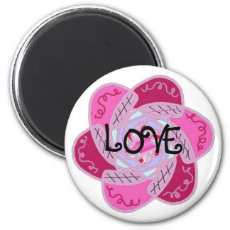 Funky Love Design 2 Inch Round Magnet