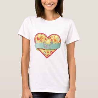 Funky Love heart with banner, customizable T-Shirt
