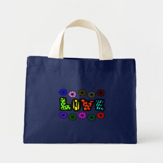Funky Love With Patterns And Multi-Colors, Flowers Canvas Bag