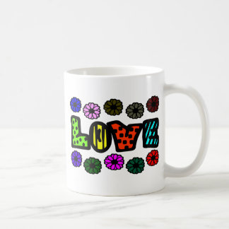 Funky Love With Patterns And Multi-Colors, Flowers Coffee Mug
