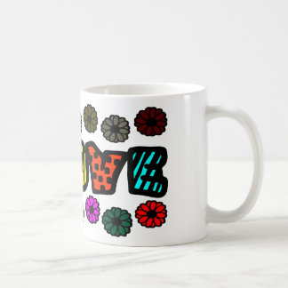 Funky Love With Patterns And Multi-Colors, Flowers Coffee Mugs