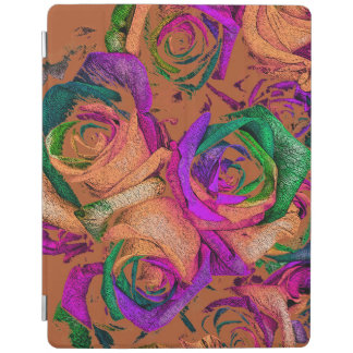 Funky Lustre Rainbow Roses iPad Cover