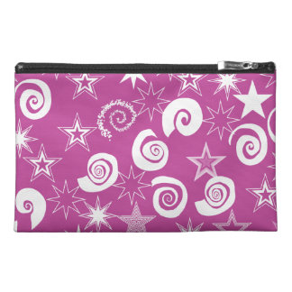 Funky Magenta Stars and Swirls Fun Pattern Gifts Travel Accessories Bags