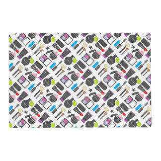 Funky Makeup Collage Placemat