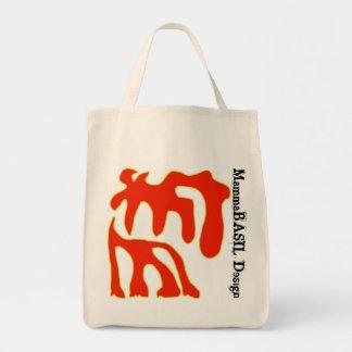Funky MammaBASIl Design Bag! Grocery Tote Bag